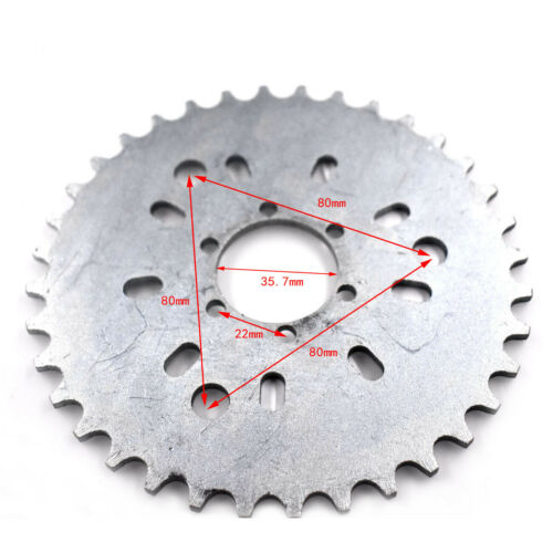 36 Tooth Wheel Sprocket Fit For 415 chain 49cc 80cc Motorized Gas Cycle Bicycle