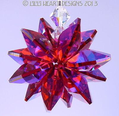 m/w Swarovski RARE AB Bordeaux Red Star Feng Shui SunCatcher Lilli Heart Designs