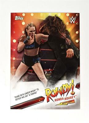 2019 Topps WWE SummerSlam Ronda Rousey Spotlight partie 3 #30 de 40 RONDA ROUSEY