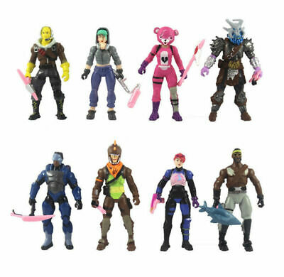 New 8pc//Set Fortnite Battle Royale Season PVC Action Figure Display Playset Toys