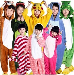 Hot Children Pajamas Kigurumi Unisex Cosplay Animal Costume Onesie Nightwear