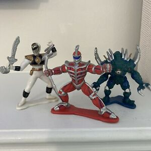 """Power Rangers 3"""" Collectible Figures Bandai 1994 Lot Of Three"""