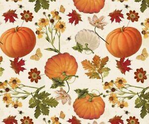 Handmade Fabric Patchwork Pumpkin Thanksgiving Day Card