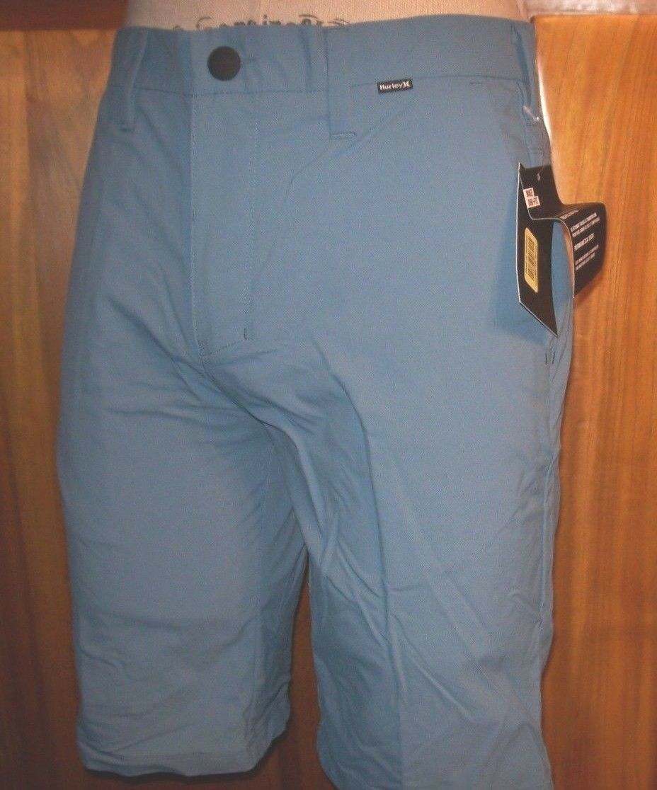 NEW HURLEY  Dri Fit HYBRID  aqua bluee walk board shorts  sz 32