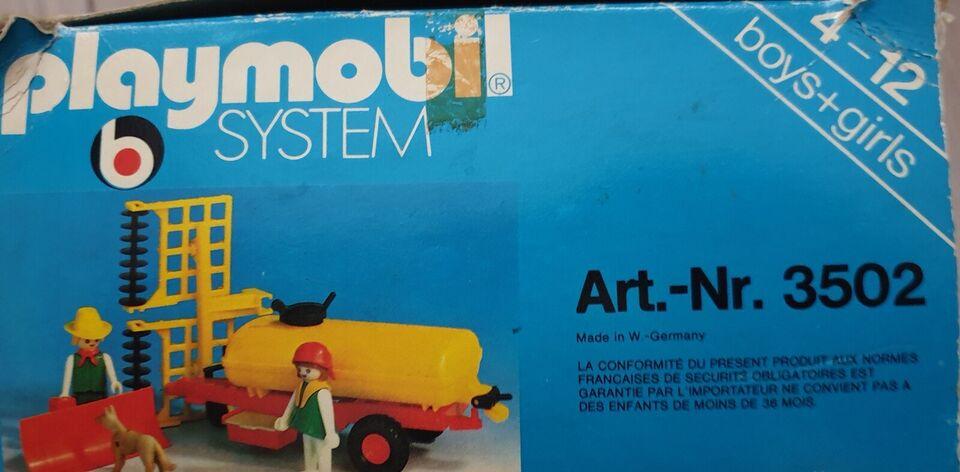 Playmobil, Traktor, anhænger med tank og plov