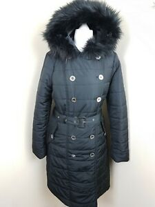 retail prices save up to 80% fantastic savings Details about LIPSY Black Double Breasted Belted Long Padded Mac Coat  Hooded Jacket UK 14 EU42