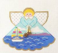 Painted Pony Sailing Angel & Charms Handpainted Needlepoint Canvas