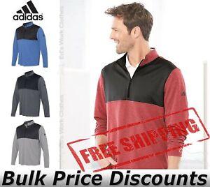Adidas-Mens-Lightweight-UPF-pullover-Shirt-Warmup-A280-up-to-4XL