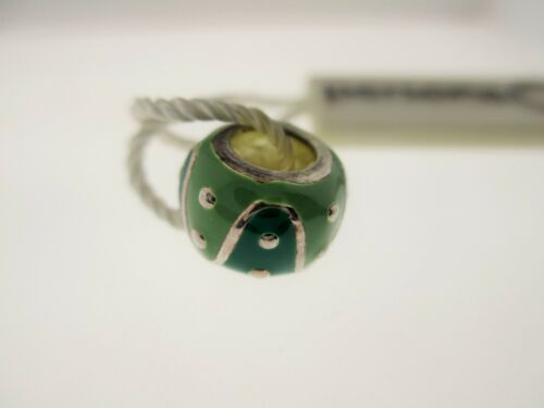 """PERSONA Sterling Silver /""""Olive /& Green Waves/"""" Bead Charme H11977P1-02"""