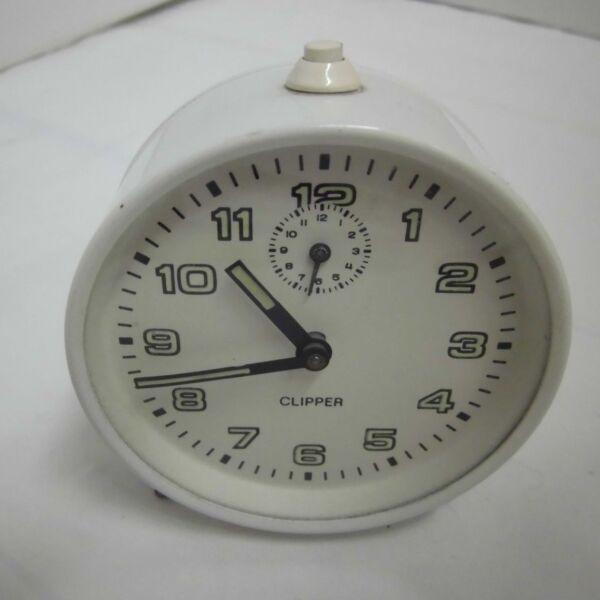 Anni 50 Anni Sveglia Clipper Meccanico Vintage Clock 50s