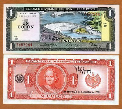 El Salvador 5 Colones 1999 Pick 153 UNC