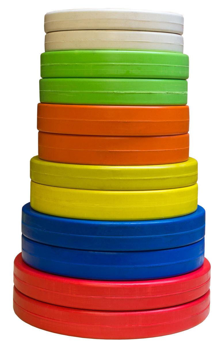 Strength Shop Farbig Olympische Gummibes chtet Gewicht Platte (Paar) -