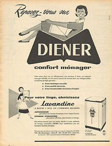 Breweriana, Beer Publicite Advertising 054 1956 Diener Machine à Laver Lave Linge Lavandine