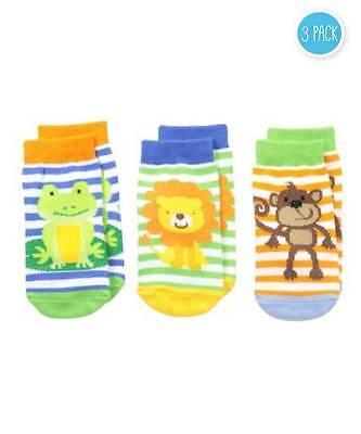 Jefferies Jungle 3 Pack Socks  Newborn or Infant