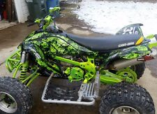 CAN AM DS 450 graphics ds450 sticker kit 9500 Zombie Skull Manta Green