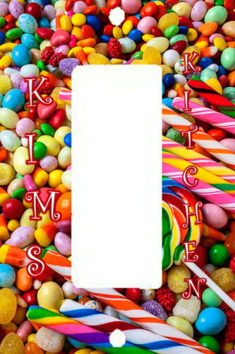 PERSONALIZED I WANT CANDY COLLAGE LOLIPOP KITCHEN LIGHT SWITCH PLATE COVER