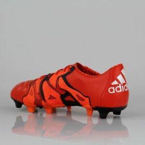 best service b1ddb ca304 Das Bild wird geladen adidas-Herren-Fussballschuh-Nocken-Orange-Black-X-15-
