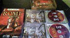Rome: Total War (PC, 2004) 3 Disc Set