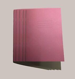 Ejercicios-escolares-Libros-A5-24-Paginas-Rosa-Liso-No-MARGEN-paquete-de-5