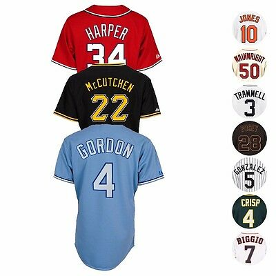 MLB Majestic Official Team & Player Replica Jersey Collection Men's