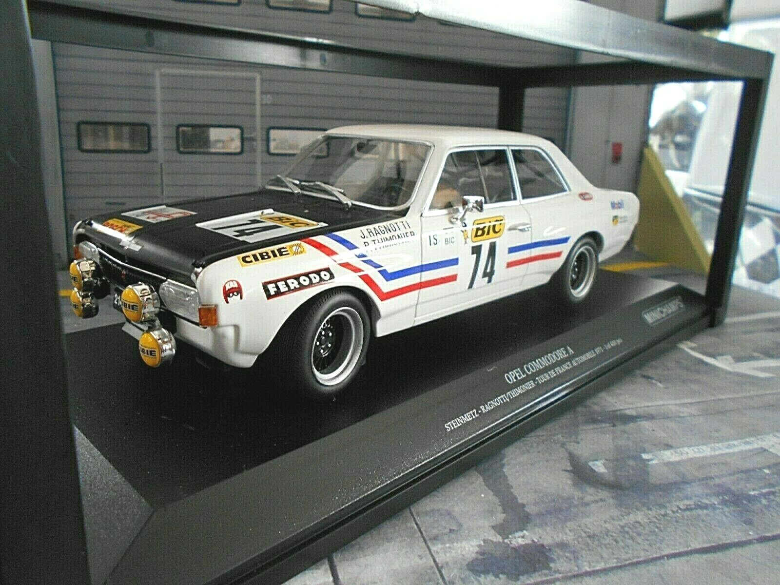 OPEL COMMODORE A PIETRA Metz Rally Tour de France 1971 Ragnotti Minichamps 1 18