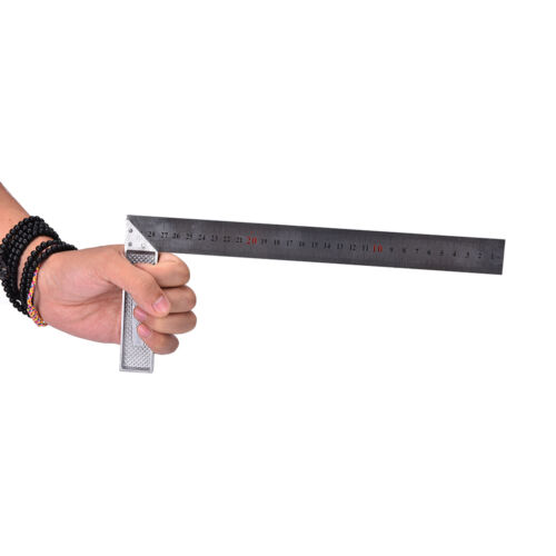Best 30cm Stainless Steel Right Measuring Angle Square Ruler FB