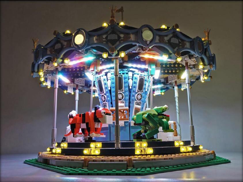 Lightup kits pour LEGO Creator - 10257-Carrousel - (modèle non inclus)