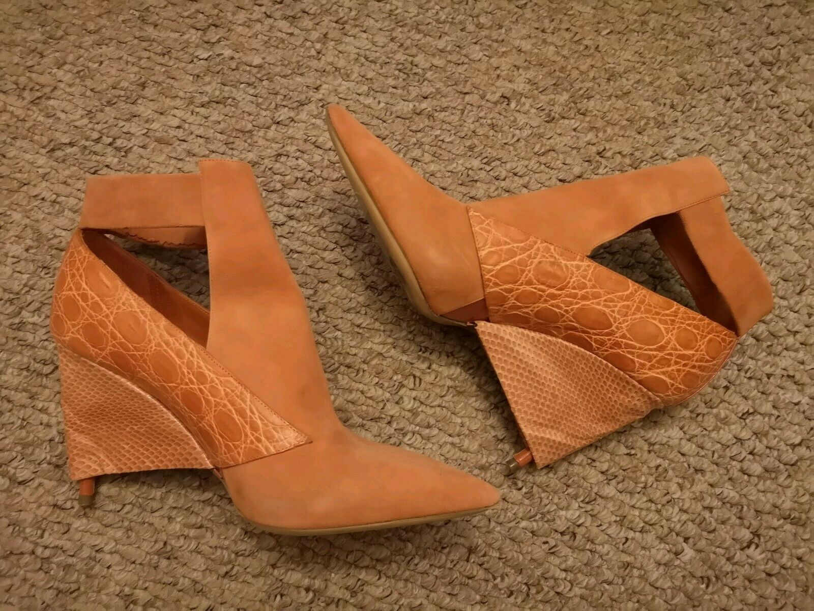 Sample Rare de Collection Chloe bottes 37 UK UK UK 4 Orange rouille en daim utilisé une fois 5e06a6