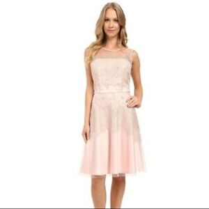 Tahari By Asl Embroidered Fit And Flare Dress Ebay