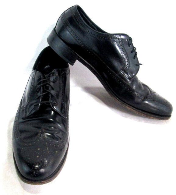 Florsheim Mens Dress Shoes Lace Up Wing Tips BLack Leather Size 12 C