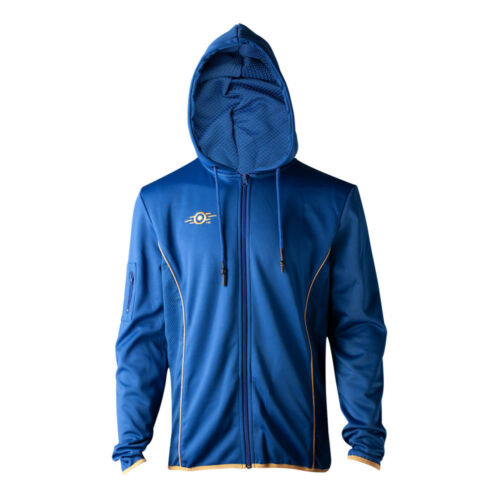 Premium Extra yellow Vault Zipped Fallout Hoodie 76 Blue Large Teq wqCnAIF