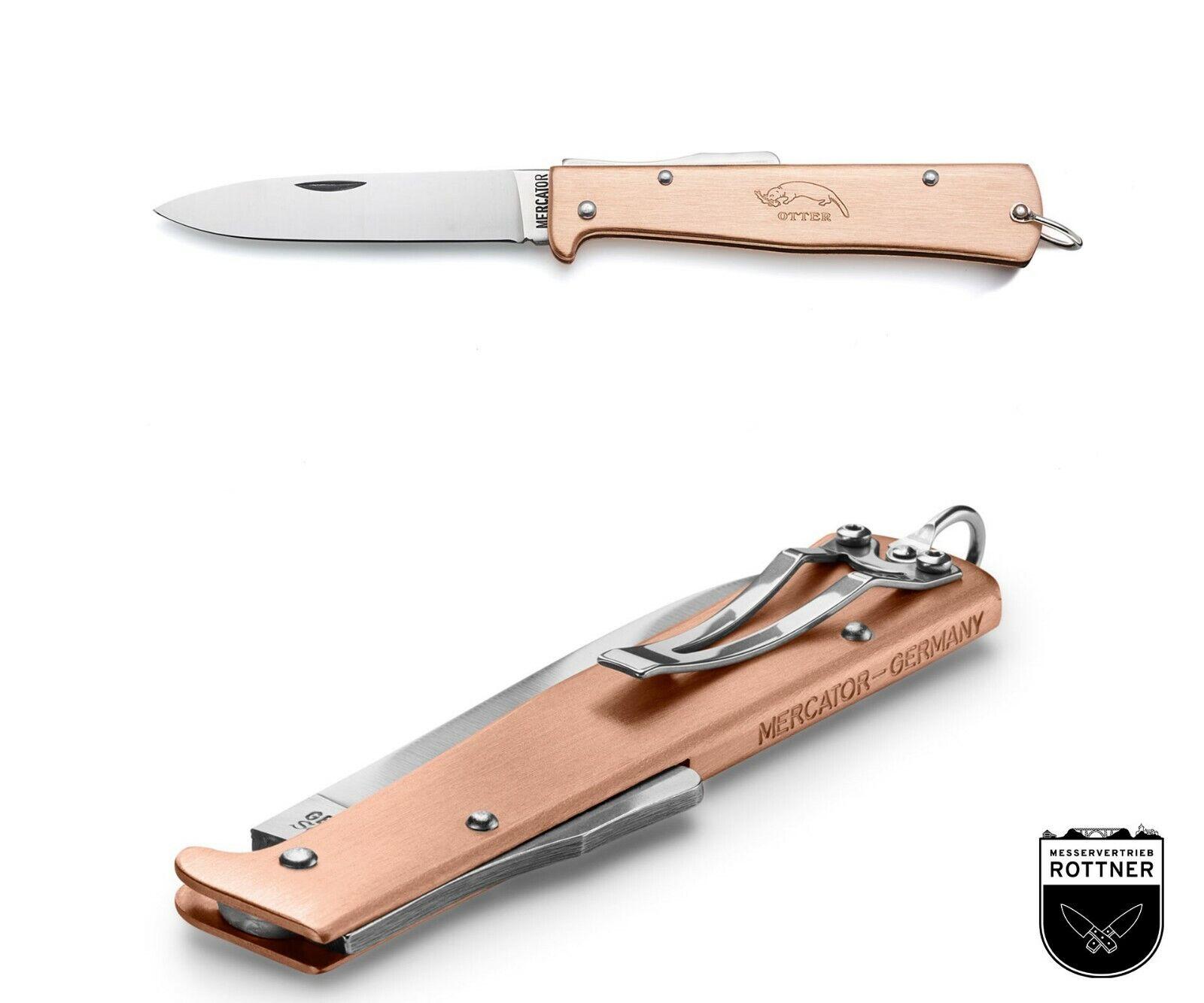 Otter Mercator Kupfer mit Clip Taschenmesser Outdoormesser Klappmesser Messer