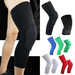 487ef5da079f09 Image is loading Youth-Basketball-Knee-Support-Pad-Honeycomb-Leg-Long-