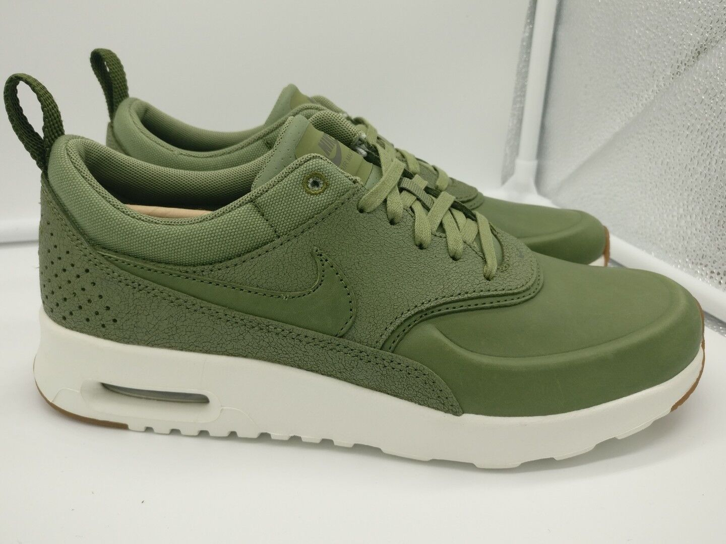 Nike Damenschuhe Air Max Thea PRM Premium UK 4.5 Palm Green Sail 616723305