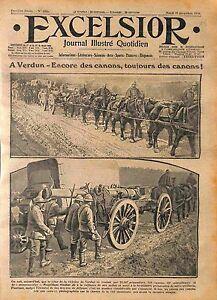 Canons-Artillerie-Butin-Deutsches-Heer-Minnenwerfer-Bataille-Verdun-WWI-1916