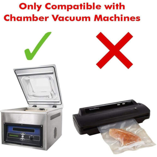 """3 mil Vacuum Chamber Pouches 1,000 pcs Clear 6/"""" x 15/"""""""