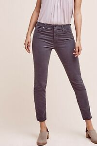 Anthropologie-AG-Stevie-Mid-Rise-Ankle-Cords-Slim-Straight-Jeans-Size-Sz-25-R