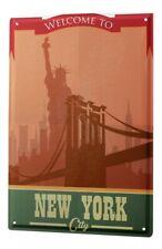 Blechschild XXL Weltenbummler Central Park New York City Skyline Brücke