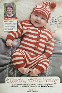 4ebf5715e04bd KNITTING PATTERN Baby Striped Hat   All in One Play Suit Playsuit ...