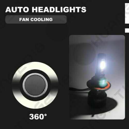 Details about  /4Side H13 9008 LED Headlight bulbs Hi//Low Beam 6500K For Ford F-150 F-250 F-350