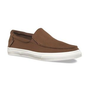 bfc618d1922 Details about VANS Bali SF (Heavy Canvas) Dachshund ULTRACUSH Brown Slip On  Men s Shoes