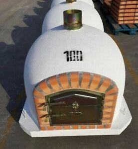 Ziegel Außen Holz Fired Pizza Ofen - Weiß Luxus Qualität BBQ Verschiedene Größen