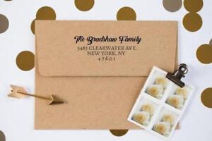 Image Is Loading Return Address Stamp Custom Rubber Wedding