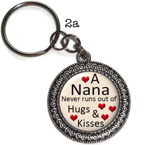 Key Ring NANA Grandma Grandmother Purse Charm Zipper Pull Handmade Gift #2