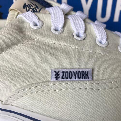 Zoo York Hommes Toile Baskets à Lacets Plimsoll Casual Taille 9 Blanc Cassé Neuf £ 12