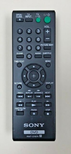 Sony RMT-D197A Remote Control For Sony DVD DVP-SR100 DVP-SR405P DVP-SR210 DV