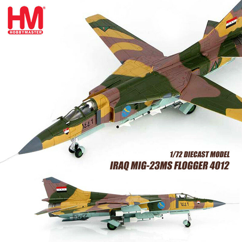 HM HOBBY MASTER IRAQ MIG-23MS Flogger 4012 1 72 diecast  plane model aircraft
