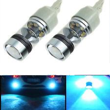2X T20 7440 8000K 100W Ice Blue Backup Reverse  LED Light Bulbs