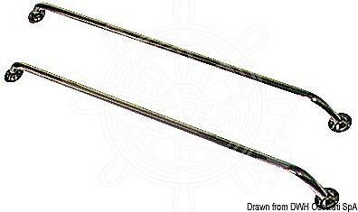 OSCULATI VA-Stahl Seitenrelingstutz cm 175x22 cm Seitenrelingstutz cade0a