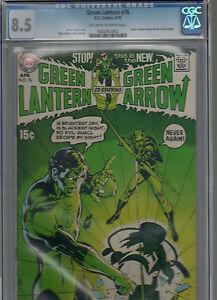 Green Lantern #76 CGC VF+ 8.5! NEAL ADAMS GREEN ARROW Begins! KEY BRONZE BOOK!